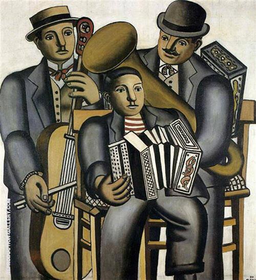 Three Musicians 1930 By Fernand Leger