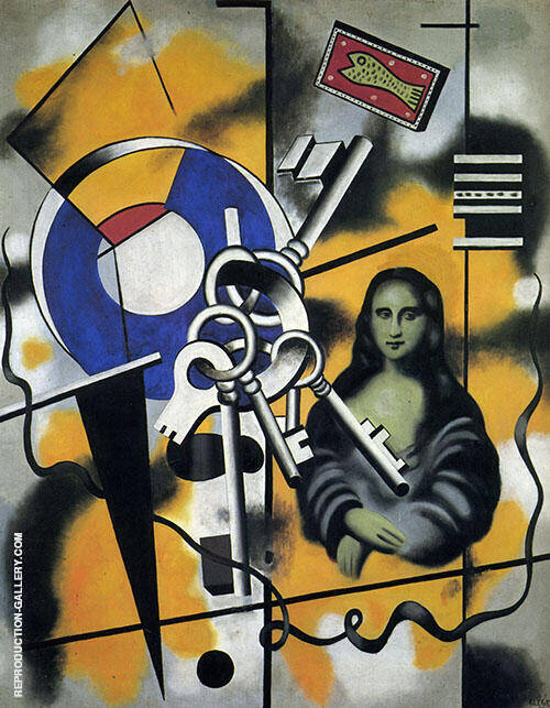 Mona Lisa with Keys  1930 By Fernand Leger Replica Paintings on Canvas - Reproduction Gallery