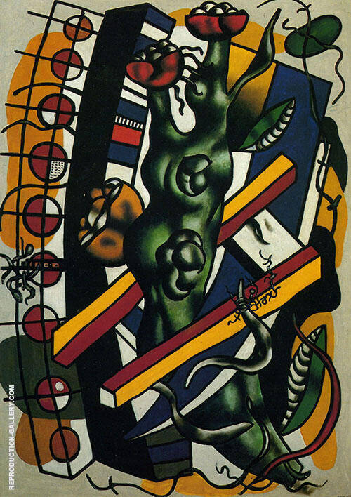 Reproduction of The Tree in the Ladder  1943 by Fernand Leger | Oil Painting Replica On CanvasReproduction Gallery