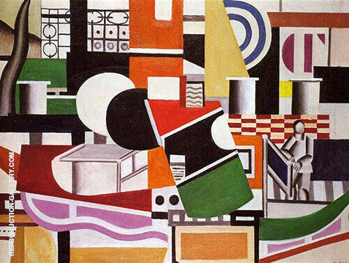 The Bridge of the Tug Boat 1920 By Fernand Leger Replica Paintings on Canvas - Reproduction Gallery