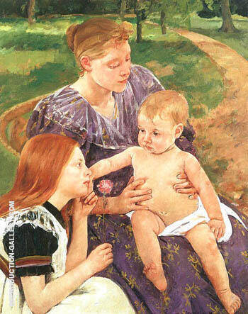 Reproduction of The Family 1892 by Mary Cassatt | Oil Painting Replica On CanvasReproduction Gallery