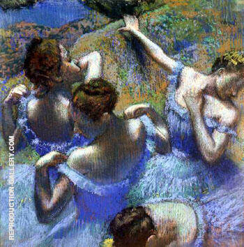 Blue Dancers c1890 By Edgar Degas