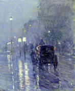 Evening in New York c1890 By Childe Hassam