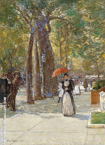 5th Avenue at Washington Square 1891 By Childe Hassam
