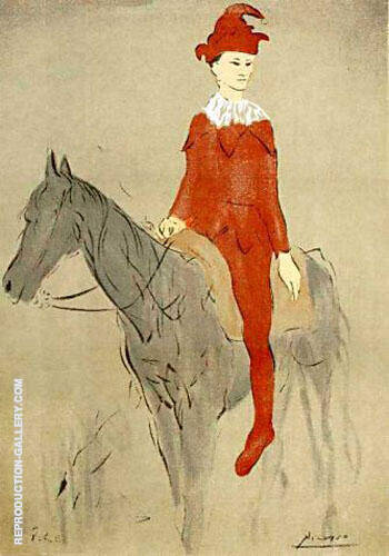 Clown on a Horse 1905 By Pablo Picasso - Oil Paintings & Art Reproductions - Reproduction Gallery