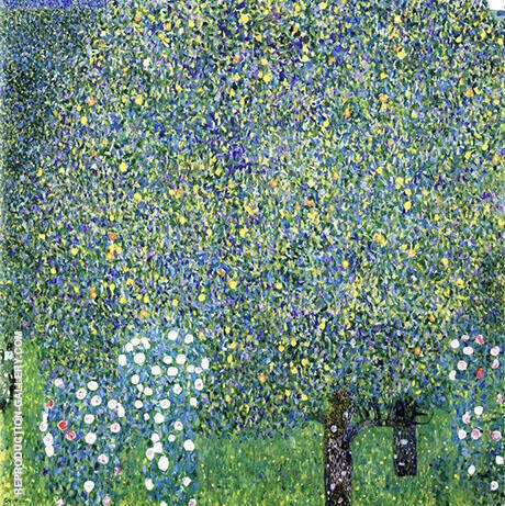 Roses under the Trees 1905 By Gustav Klimt