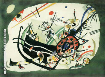 Study for Green Border 1920 By Wassily Kandinsky Replica Paintings on Canvas - Reproduction Gallery