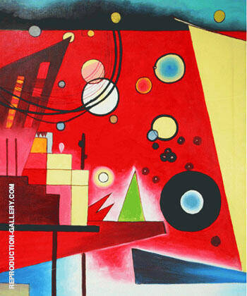 Schweres Rot Heavy Red By Wassily Kandinsky Replica Paintings on Canvas - Reproduction Gallery