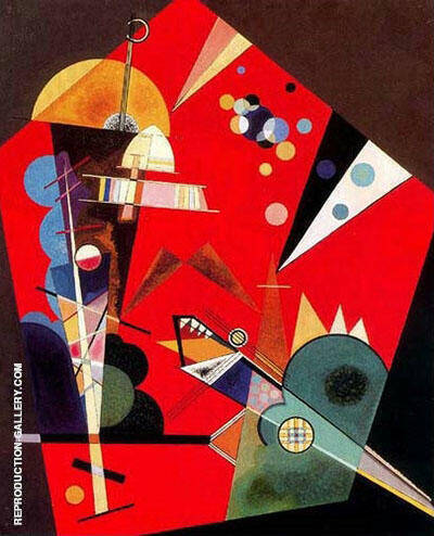 Tension in Red 1926 Painting By Wassily Kandinsky - Reproduction Gallery