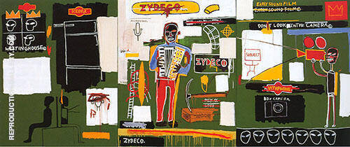 Zydeco Painting By Jean-Michel-Basquiat - Reproduction Gallery