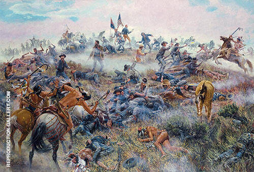 Reproduction of Custer's Last Stand 1908 by Charles M Russell | Oil Painting Replica On CanvasReproduction Gallery
