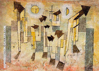 Reproduction of Mural from The Temple of Longing 1922 by Paul Klee | Oil Painting Replica On CanvasReproduction Gallery