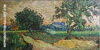 Landscape at Twilight 1890 Painting By Vincent van Gogh