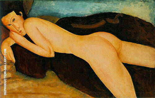 Nu Couche De Dos 1917 By Amedeo Modigliani Replica Paintings on Canvas - Reproduction Gallery