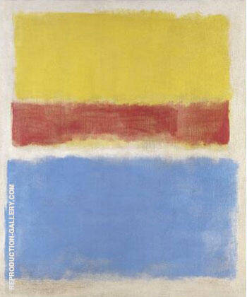 Untitled Yellow Red and Blue 1953 By Mark Rothko
