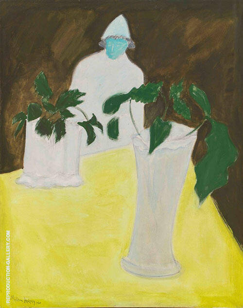White Vase White Figure Painting By Milton Avery - Reproduction Gallery