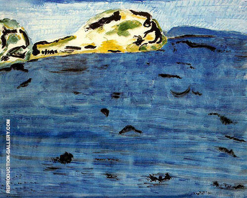 Reproduction of Blue Bay and Dunes by Milton Avery | Oil Painting Replica On CanvasReproduction Gallery