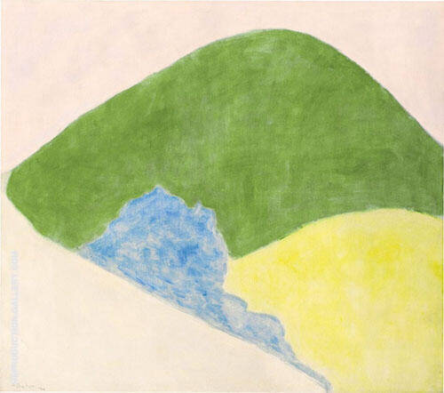 Reproduction of Mountain and Meadow by Milton Avery | Oil Painting Replica On CanvasReproduction Gallery