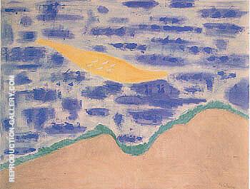 Sandbar and Seabirds By Milton Avery