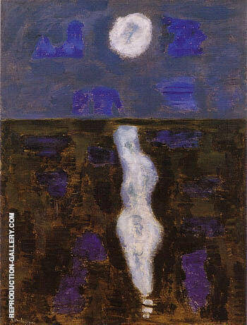 White Moon By Milton Avery