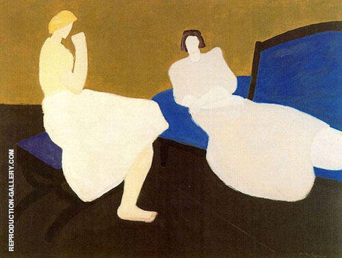 Two Figures By Milton Avery Replica Paintings on Canvas - Reproduction Gallery