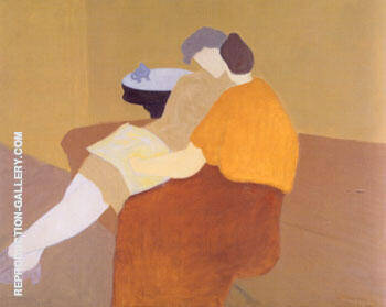 Poetry Reading By Milton Avery - Oil Paintings & Art Reproductions - Reproduction Gallery