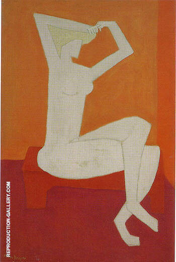 Nude Combing Hair By Milton Avery - Oil Paintings & Art Reproductions - Reproduction Gallery
