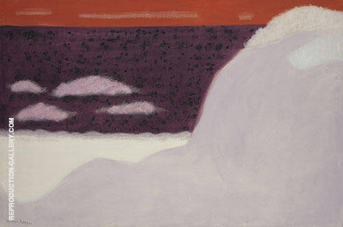 Reproduction of Sea and Sand Dunes by Milton Avery | Oil Painting Replica On CanvasReproduction Gallery