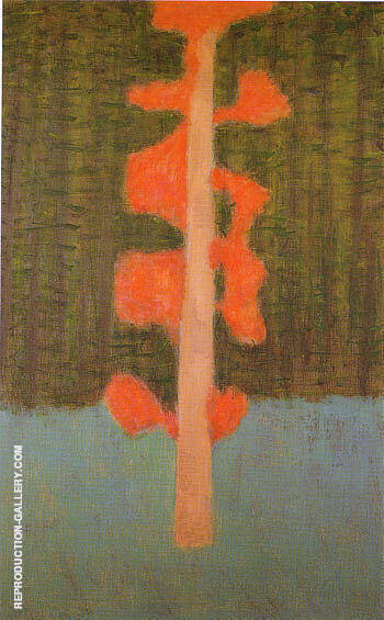 Reproduction of Hint of Autumn by Milton Avery | Oil Painting Replica On CanvasReproduction Gallery