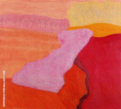 Shapes of Spring By Milton Avery Replica Paintings on Canvas - Reproduction Gallery