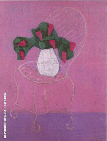 Chair with Lilacs By Milton Avery - Oil Paintings & Art Reproductions - Reproduction Gallery