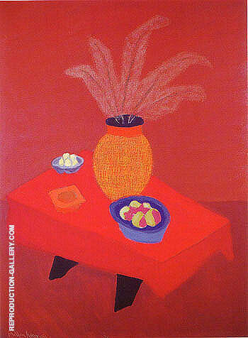 Reproduction of Orange Vase by Milton Avery | Oil Painting Replica On CanvasReproduction Gallery