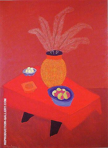 Orange Vase By Milton Avery