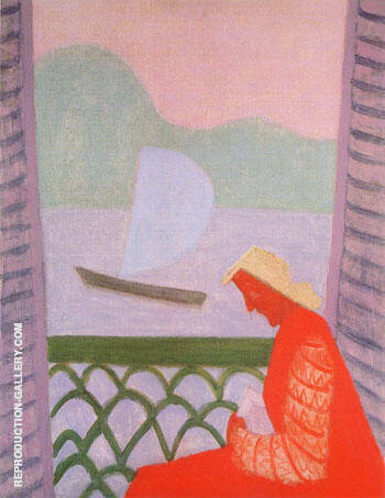 March on the Balcony By Milton Avery Replica Paintings on Canvas - Reproduction Gallery