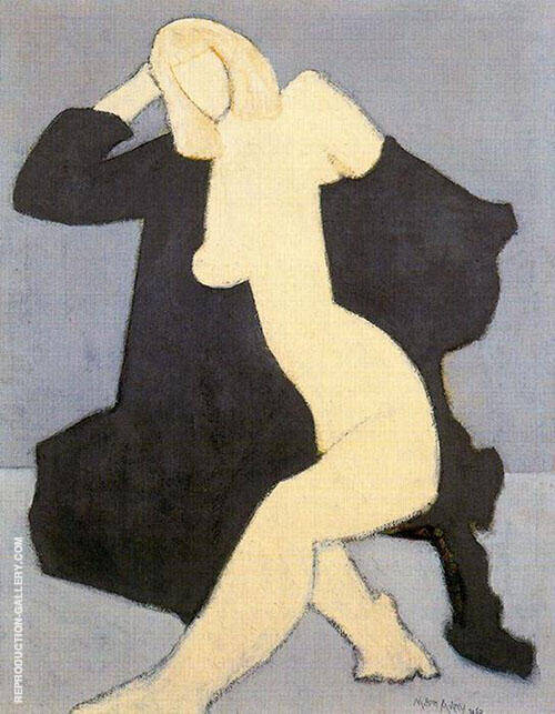 Reproduction of Nude in Black Robe by Milton Avery | Oil Painting Replica On CanvasReproduction Gallery