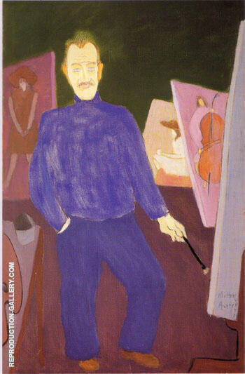 Self-Portrait By Milton Avery Replica Paintings on Canvas - Reproduction Gallery