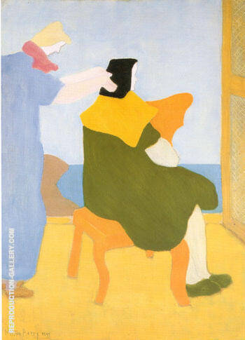 Reproduction of The Haircut by Milton Avery | Oil Painting Replica On CanvasReproduction Gallery