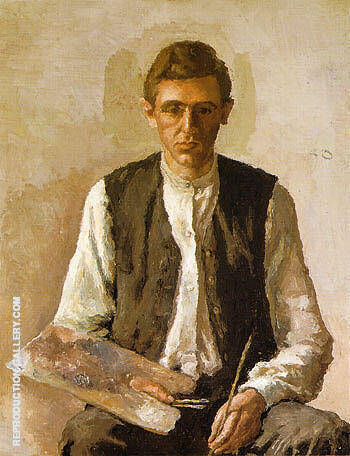 Self-Portrait 1925 By Georgio Morandi - Oil Paintings & Art Reproductions - Reproduction Gallery