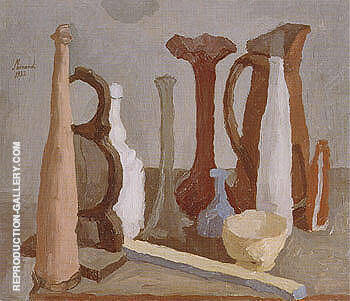 Still Life 1932 By Georgio Morandi - Oil Paintings & Art Reproductions - Reproduction Gallery