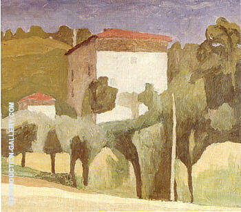 Landscape 1936 By Georgio Morandi Replica Paintings on Canvas - Reproduction Gallery