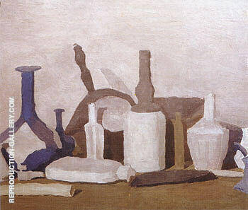 Still Life 1938 By Georgio Morandi - Oil Paintings & Art Reproductions - Reproduction Gallery