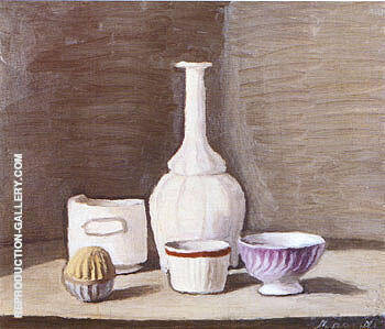 Still Life 1946 By Georgio Morandi - Oil Paintings & Art Reproductions - Reproduction Gallery