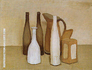 Reproduction of Still Life 1951 by Georgio Morandi | Oil Painting Replica On CanvasReproduction Gallery