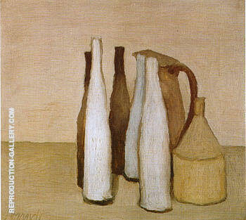 Still Life 1951 3 By Georgio Morandi - Oil Paintings & Art Reproductions - Reproduction Gallery