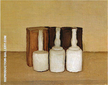 Still Life 1952 By Georgio Morandi - Oil Paintings & Art Reproductions - Reproduction Gallery