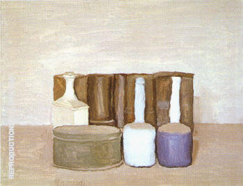 Still Life 1954 2 By Georgio Morandi Replica Paintings on Canvas - Reproduction Gallery