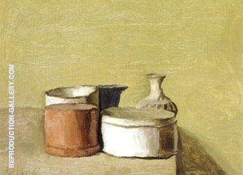 Still Life 1955 By Georgio Morandi - Oil Paintings & Art Reproductions - Reproduction Gallery