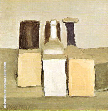Reproduction of Still Life 1955 by Georgio Morandi | Oil Painting Replica On CanvasReproduction Gallery