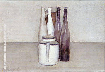 Still Life 1957 By Georgio Morandi - Oil Paintings & Art Reproductions - Reproduction Gallery