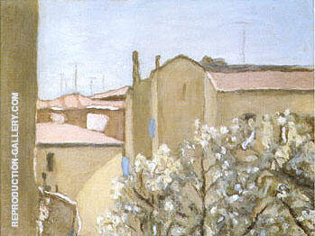 Courtyard Via Fondazza 1958 By Georgio Morandi - Oil Paintings & Art Reproductions - Reproduction Gallery